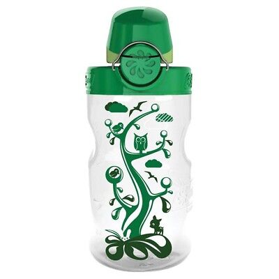 Nalgene On the Fly Water Bottle Kids Clear Wdland with Gn Cap