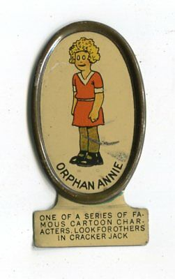 Early Little Orphan Annie Tin Litho Cracker Jack Prize or Premium 1930's Clean
