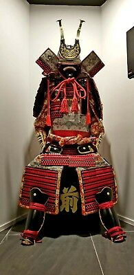The Kabuto and Armor Full Set Japanese Traditional  Used  SAMURAI