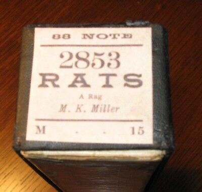Rats A Rag Connorized Brand Original Piano Roll1018