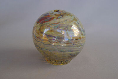 Vintage Art Glass End Of Day Hand Blown Globe Vase