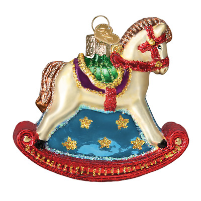 """Rocking Horse"" (44133)X Old World Christmas Ornament w/ OWC Box"