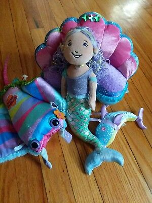 Groovy Girls Mermaid Lot includes shell couch, dolphin and more