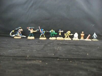 25mm painted science fiction fighter and robot assortment (10)