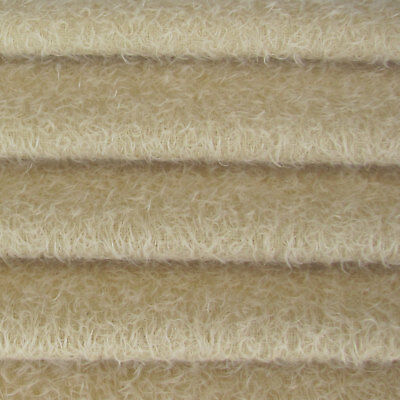 "1/6 yd 300S/CM Cream INTERCAL 1/2"" Ultra-Sparse Curly Matted Mohair Fur Fabric"
