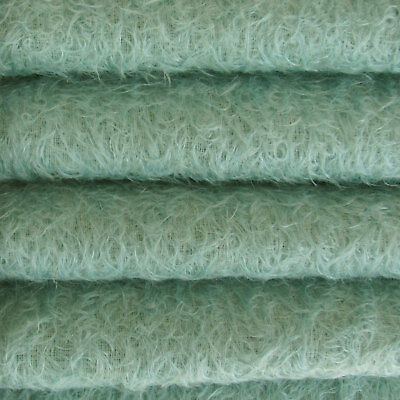 "1/4 yd 300S/CM Teal INTERCAL 1/2"" Ultra-Sparse Curly Matted Mohair Plush Fabric"