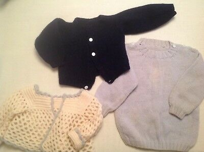 Vintage Hand Knit Wool Baby Sweaters