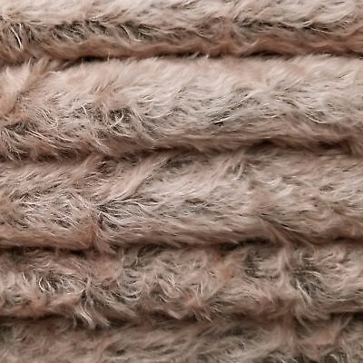 "1/4 yd 325S/C Antq Pink Dark Back INTERCAL 5/8"" Semi-Sparse Curly German Mohair"