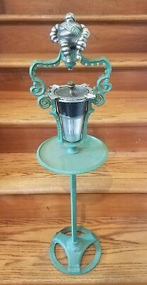 Vintage Cast Iron Michelin Man Advertising Ash Tray Smoking Stand Sign RARE!!!