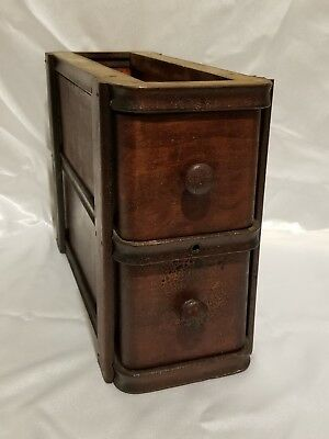 Vintage treadle sewing machine two drawer assembly with wood knob pulls!