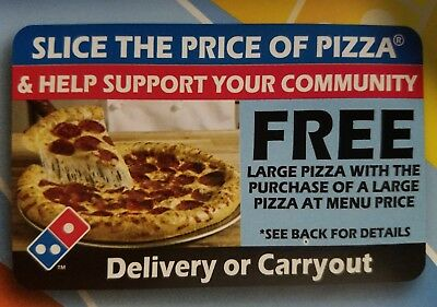 DOMINO'S SLICE THE PRICE CARD EXPIRES 06/30/2019 BOGO CARD use as many you like