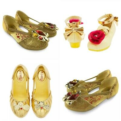 Disney Store Belle Shoes Costume Dress Up Beauty & Beast Live Action Princess