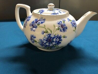 Vintage Hammersley-Bone-China-England-Cornflower Teapot