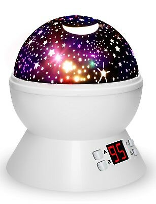 Night Lights For Kids, MultiColors Star Projector With Timer,Baby Night Light