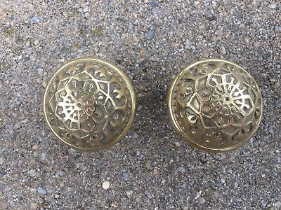 Antique Ornate Victorian Brass Door Knobs Architectural Salvage