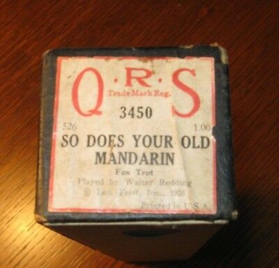So Does Your Old Mandarin  Original Piano Roll 1018