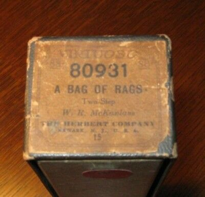 A Bag Of Rags Exceptional!  Original Piano Roll 1018