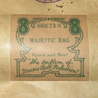 Majestic Rag Original Piano Roll 1018