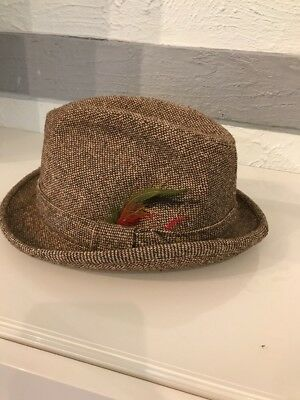 582e8b022 MINT VINTAGE BEE Hats Custom Made KHAKI Safari Fedora Hat Made in ...