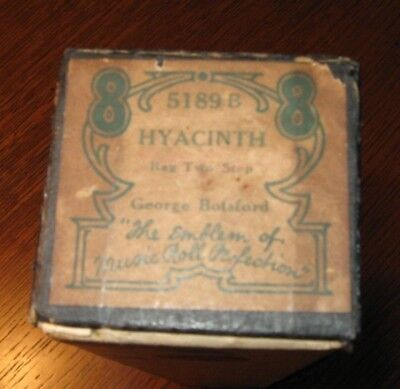 Hyacinth Rag By Ragtime Composer George Botsford Original Piano Roll 1018