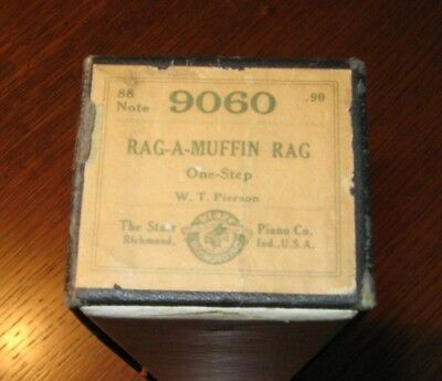 Rag-A-Muffin Rag Check Out The Crocheted End Tab Original Piano Roll 1018