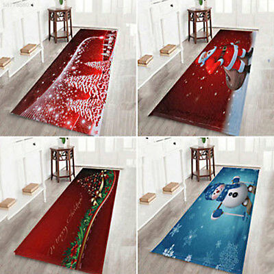 0D5D Colorful Soft Non-Slip SDL Mat Floor Rug Pad Festival Decor Xmas