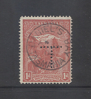 TASMANIA  1904: clear strike DANIELS BAY Type 1 cds on 1d Pictorial rated R(8)
