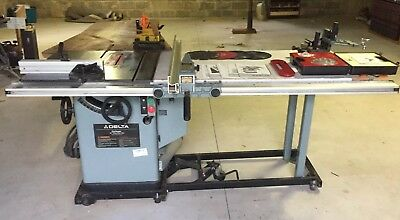 """10"""" Delta 2-phase Tilting Arbor Unisaw Table Saw w/ accesories Unifence"""