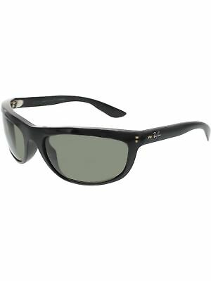 4e459fe705 Ray-Ban Men s Polarized Balorama RB4089-601 58-62 Black Rectangle Sunglasses