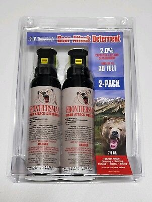 Frontiersman Bear Attack Deterrent Spray - Max Strength - 30 Ft Range - 2 PACK