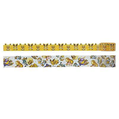 Pokemon Center Original 24 Hours Pokemon CHU Sticky Paper Masking Tape 3pcs