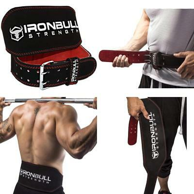 bde41c9114 Iron Bull Strength Weight Lifting Belt 6 inch Padded Leather Weight Belt  Fitness