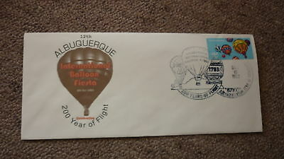 Old Hot Air Balloon Flight Cover, 1983 Bicentennary Albuquerque Balloon Fiesta