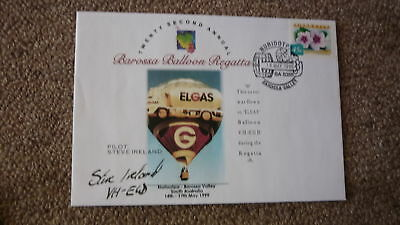 Old Hot Air Balloon Flight Cover, 1999 Barossa Balloon Regatta, Elgas Balloon