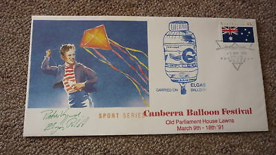 Old Hot Air Balloon Flight Cover, 1991 Canberra Balloon Festival Elgas Balloon 2