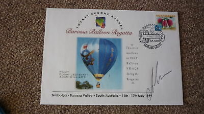 Old Hot Air Balloon Flight Cover, 1999 Barossa Balloon Regatta, Raaf Balloon