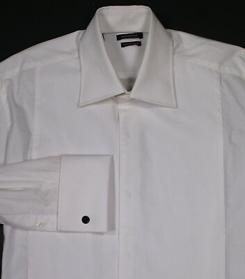 * SUITSUPPLY * Solid White Cotton Tuxedo Evening Dinner Shirt (39) 15.5-35