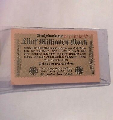 Germany - Funf Millionen Mark · 5,000,000 · 1920 · UNCIRCULATED