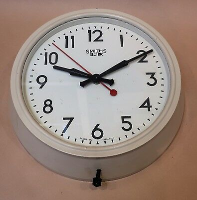 Large Vintage Painted Bakelite Smiths Sectric Electric Wall Clock