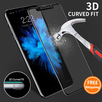Full Coverage Tempered Glass Screen Protector For iPhone XS Max XR X 8 7 Plus