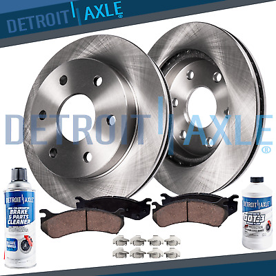 Rear Brake Rotors & Ceramic Pads for 2010 2011 2012 2013 2014 2015 Cadillac SRX