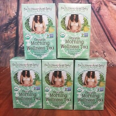 Earth Mama Angel Baby Lot of 5 Morning Wellness Tea Organic
