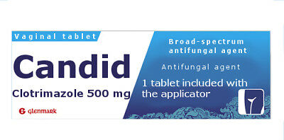 CANDID Vaginal Tablet :Pessary 500mg + Applicator for Thrush x 1. /CLOTRIMAZOLE/