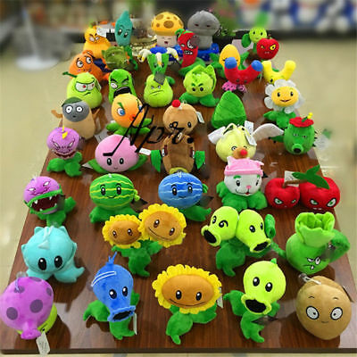 Plants Vs Zombies PVZ Plush Soft Doll Game Stuffed Action Figure Cowboy Kid Toy