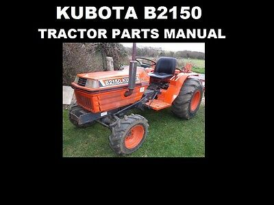 Kubota B2150 Parts Manual Set 580pg With Detailed Diagrams For
