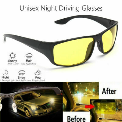 Driving Glasses UV Protection Anti Glare Night Vision Goggles Safety Sunglasses