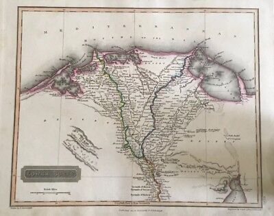 1817 ANTIQUE MAP - Lower Egypt