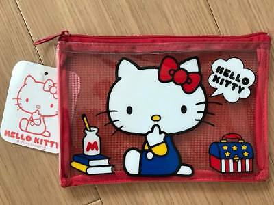 New SANRIO Hello Kitty Vinyl Mesh Case Pouch from Japan FREE SHIPPING