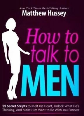 How to Talk to Men By Matthew Hussey Not a Paperback 1minute Delivery