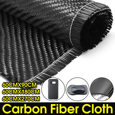 3K 200gsm Real Weave Carbon Fiber Fibre Cloth Black Fabric 2/2 Twill 60x 270cm